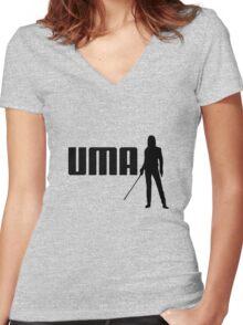 P-UMA (A Kill Bill take on Puma) Women's Fitted V-Neck T-Shirt