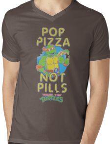 Pop Pizza Not Pills Mens V-Neck T-Shirt