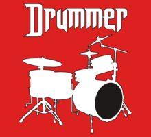Drummer  White by mayala