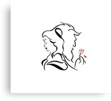Beauty and the beast  logo Canvas Print