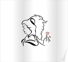 Beauty and the beast  logo Poster