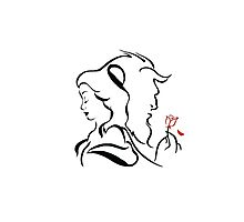 Beauty and the beast  logo Photographic Print