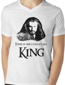 """""""There Is One I Could Call King."""" Mens V-Neck T-Shirt"""