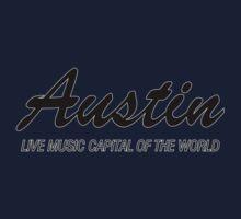 Austin live music (black) Kids Tee