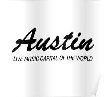 Austin live music (black) Poster