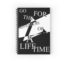 Adventure of a Lifetime Typography Spiral Notebook