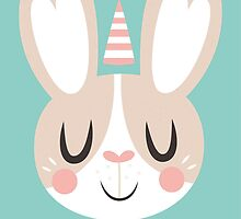 Hoppy Bunny Face by Claire Stamper