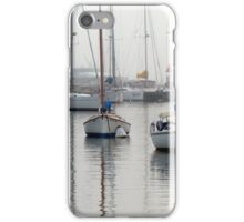 Foggy Day Harbor iPhone Case/Skin