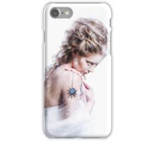 Beautiful girl with glamour Christmas makeup iPhone Case/Skin