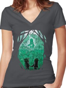 Gravity Falls - Face your Villains Women's Fitted V-Neck T-Shirt