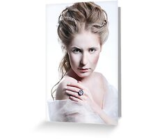 Beautiful girl with glamour Christmas makeup Greeting Card