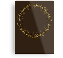 The One Ring Inscription Metal Print