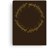 The One Ring Inscription Canvas Print