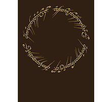 The One Ring Inscription Photographic Print