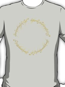 The One Ring Inscription T-Shirt