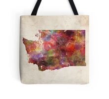 Washington map warm colors Tote Bag