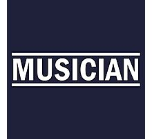 Musician (white) Photographic Print