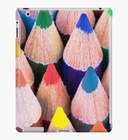 Close up macro shot of colouring pencils iPad Case/Skin