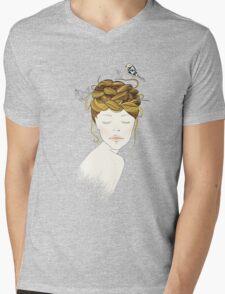 Nest Hair Mens V-Neck T-Shirt
