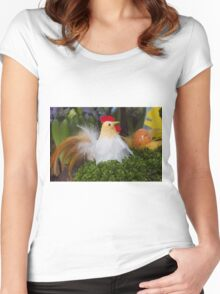 Easter hen Women's Fitted Scoop T-Shirt