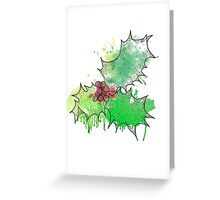 Holly Leaf (With berries) [Coloured] Greeting Card
