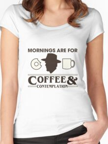Mornings are for Coffee & Contemplation Women's Fitted Scoop T-Shirt
