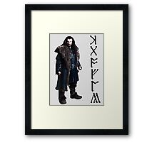 Thorin in Runes Framed Print