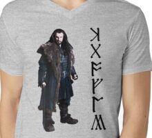 Thorin in Runes Mens V-Neck T-Shirt