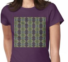 holly pattern Womens Fitted T-Shirt