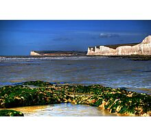 Low tide at Birling gap Photographic Print