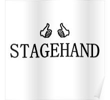 Stagehand (black) Poster