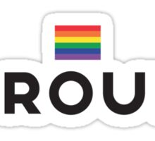 Simply Proud [Light Backgrounds] Sticker