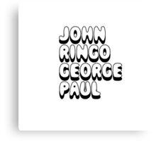John Ringo George Paul - The Beatles Fan Canvas Print
