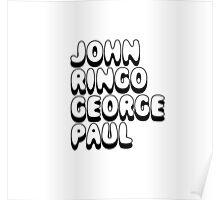 John Ringo George Paul - The Beatles Fan Poster