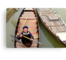 Trickster on the river Canvas Print