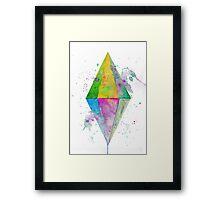Watercolor Plumbob Framed Print