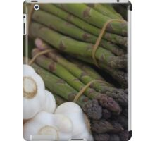 asparagus and onions iPad Case/Skin