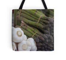 asparagus and onions Tote Bag