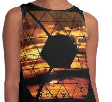 C is for CLOUDS - Geometric Abstract Sunset Geometry Art Contrast Tank