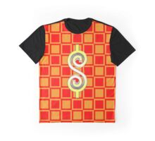 Dollar Sign Checkerboard Graphic T-Shirt