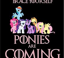 Ponies Are Coming  by SamwisePotaygee