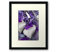 lavender hearts Framed Print