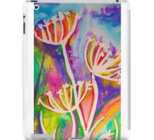 Rainbow flower silhouette iPad Case/Skin