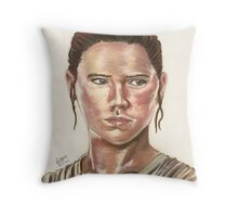 SW Portraits - Rey Throw Pillow