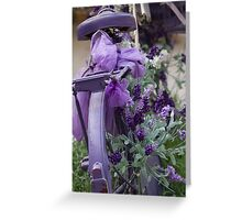 bicycle with lavender Greeting Card