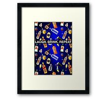 LAUGH. DRINK. REPEAT Framed Print