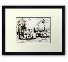 Artists at Work by the Johnstone River, Innisfail FNQ Framed Print