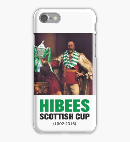 Hibs scottish Cup winners 2016 iPhone Case/Skin