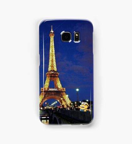 Minions visit the Eiffel Tower Samsung Galaxy Case/Skin