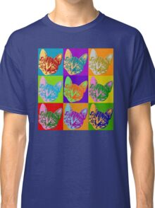 Cat Pop Art  Inspired Graphic Cats Kitty Bright Color Design Classic T-Shirt